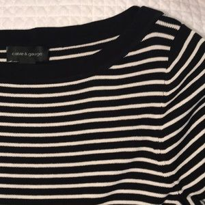 Silk striped sweater